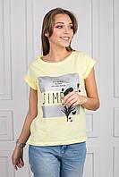 Женская футболка с принтом Simple Хлопок p.44-48 S1173