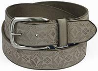 Женский кожаный ремень с тиснением, Tom Tailor, Германия, 21079.2647 серый, 4х106 см