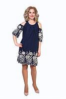 Красивое платье  из натуральной ткани батист с вышивкой