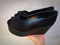 Туфли Gloria замш черные