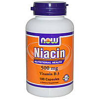 NOW Ниацин Niacin 500 mg (100 caps)