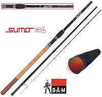 АКЦИЯ! Фидер DAM Sumo GT4 Method Feeder 3.90м 100гр
