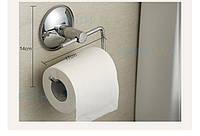 Держатель для туалетной бумаги на вакуумном креплении. Без дрели! Без сверления!