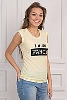 Женская футболка с принтом вискоза p.42-46 S1128