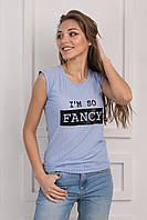 Женская футболка с принтом вискоза p.42-46 S1131