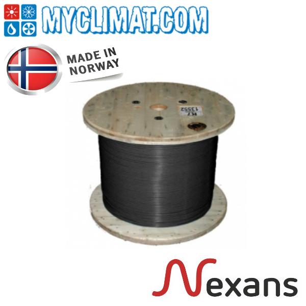 Кабель нагревательный одножильный отрезной Nexans TXLP 0.02 Ohm/m Black