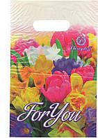 "Пакеты полиэтиленовые типа банан ""цветы Тюльпан For You"" 20х30 100шт."