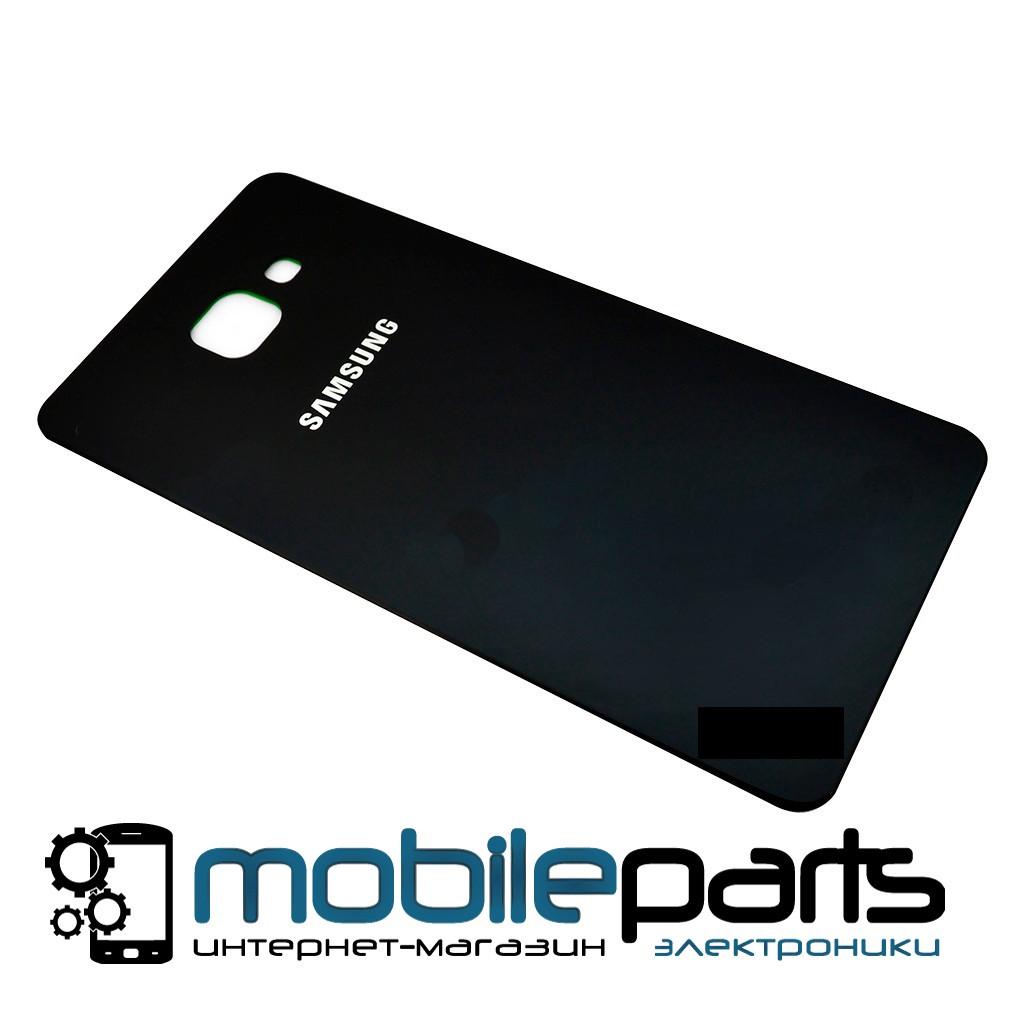 Задняя панель корпуса (крышка) для Samsung A710 Galaxy A7 (2016) Black (Качество ААА) (Черная)