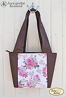 """Пошитая сумка со схемой для вышивки бисером """"Винтаж"""""""