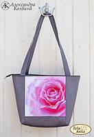 """Пошитая сумка со схемой для вышивки бисером """"Роза"""""""