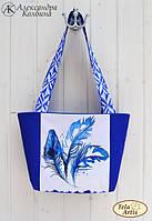 """Пошитая сумка со схемой для вышивки бисером """"Тушé"""""""