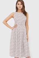 Жіноче біле плаття в бордову квітку Sandra