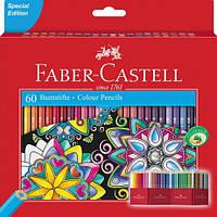 Цветные карандаши Faber-Castell 60 цветов в картонной раскладывающейся коробке 111260