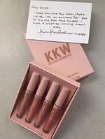 Лимитированный набор Kylie Jenner x Kim Kardashian Lip Colors KKW x Kylie Репліка