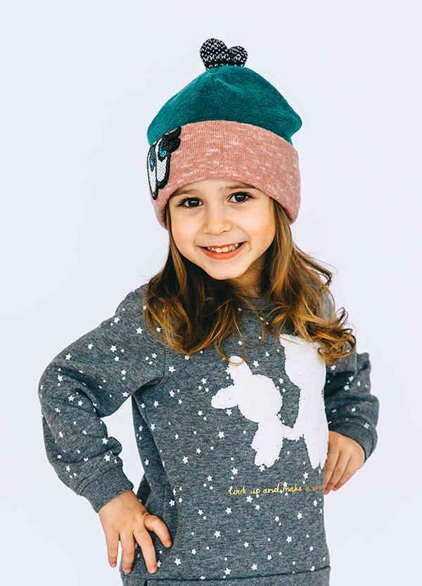 Детская шапка МОНИ для девочек оптом размер 48-50- 52