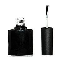 Пустая бутылочка с кисточкой под лак, 10 мл, (черная, прозрачная)