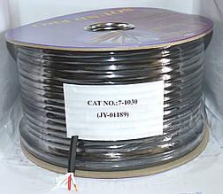 Кабель акустический круглый 2х1,5мм2 (CU) чёрный JY-01189 100м