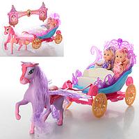 Карета (конь Пегас, куклы 10см.) 2 кольори, бліст. 6155 36-28-14 см.