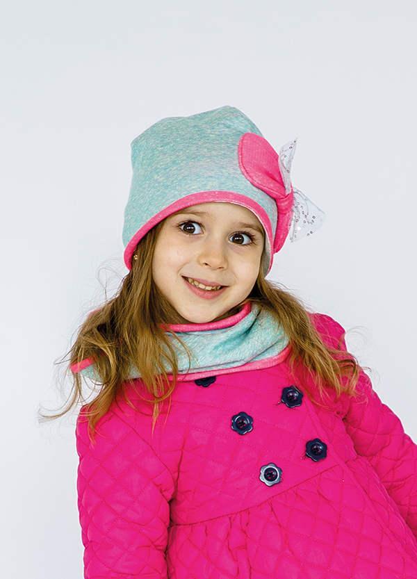 Детская шапка РИВЕРСАЙД (набор) для девочек оптом размер 48-50- 52