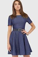 Жіноче класичне синє плаття-міні Blanka