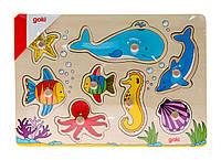Goki Пазл деревянный Подводный мир, арт. 57953