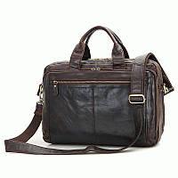 Мужская сумка портфель из натуральной кожи на плечо,  S.J.D. 7230Q