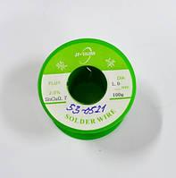13-09-246. Припой диаметр 1 мм, безсвинцовый 99.3/0.7, 100г на катушке, Jufeng