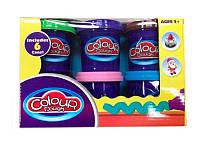 Пластилин color clay 6цв 9207, пластилин