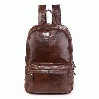 Рюкзак из натуральной кожи для мужчин S.J.D. 7273C-1  Коричневый