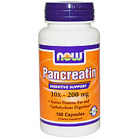 NOWПанкреатин Pancreatin 10x-200 mg (100 caps)