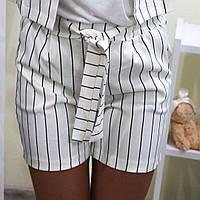 Женские, летние, льняные шорты в полоску. Турция!