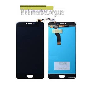 Модуль (дисплей + сенсор) для Meizu M3 Note (L681H) чорний, фото 2