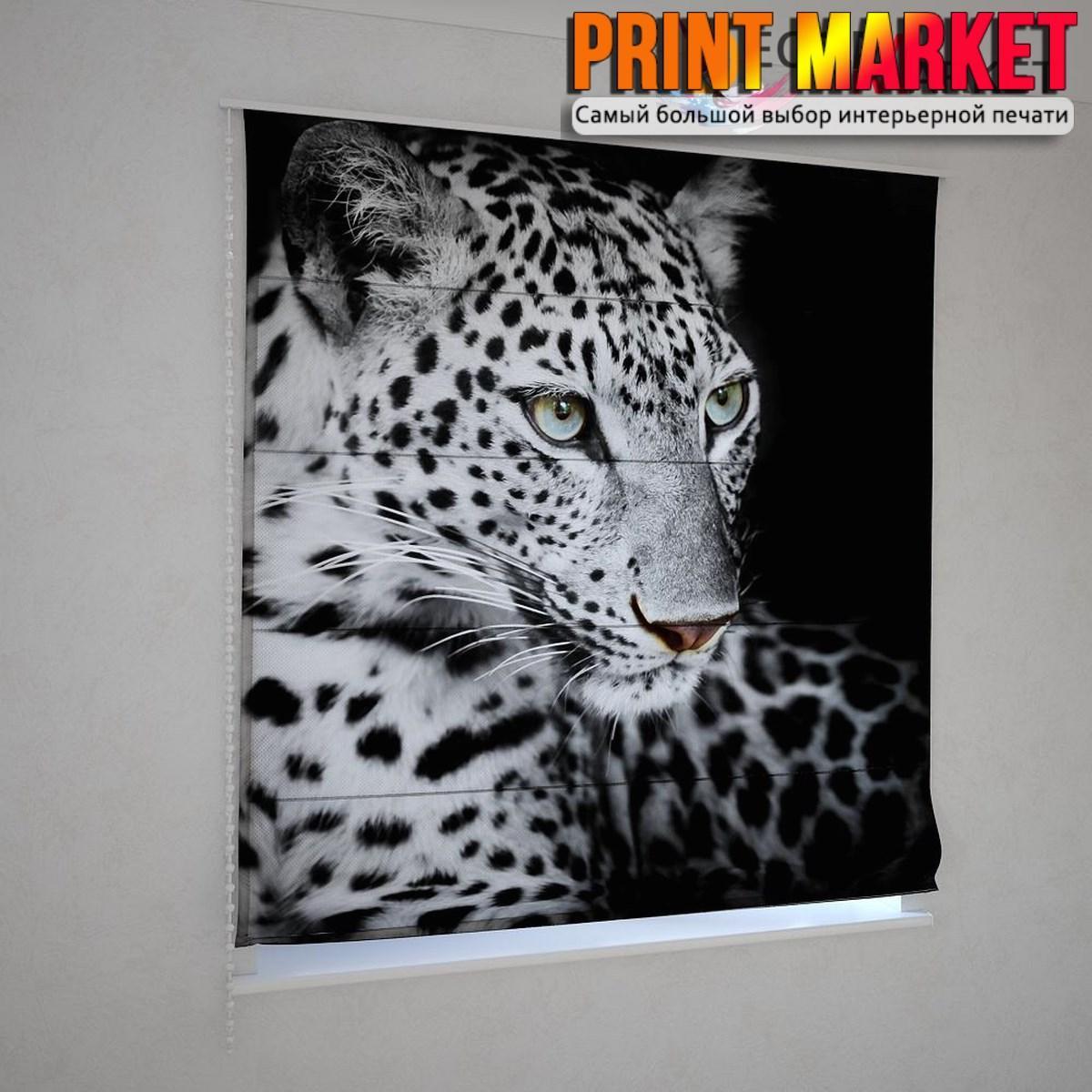 Римские шторы леопард
