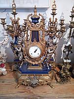 Старинные ИТАЛЬЯНСКИЕ каминные часы с канделябрамиинные ИТАЛЬЯНСКИЕ каминные часы с канделябрами