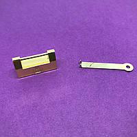 Колодка для шкатулок с ключиком. Цвет золото.  31х17мм