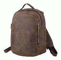 Добротный рюкзак из телячьей кожи TIDING BAG t3072  Коричневый