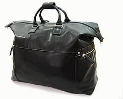 Добротная мужская сумка из первоклассной кожи, черная 69231a