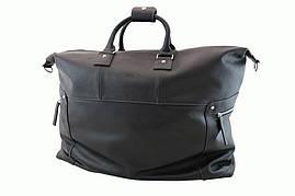 Вместительная стильная кожаная сумка, черная 69230a