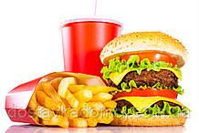 Дабл чизбургер меню картошка фри