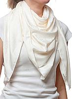 Турецкий бежевый атласный платок , фото 1
