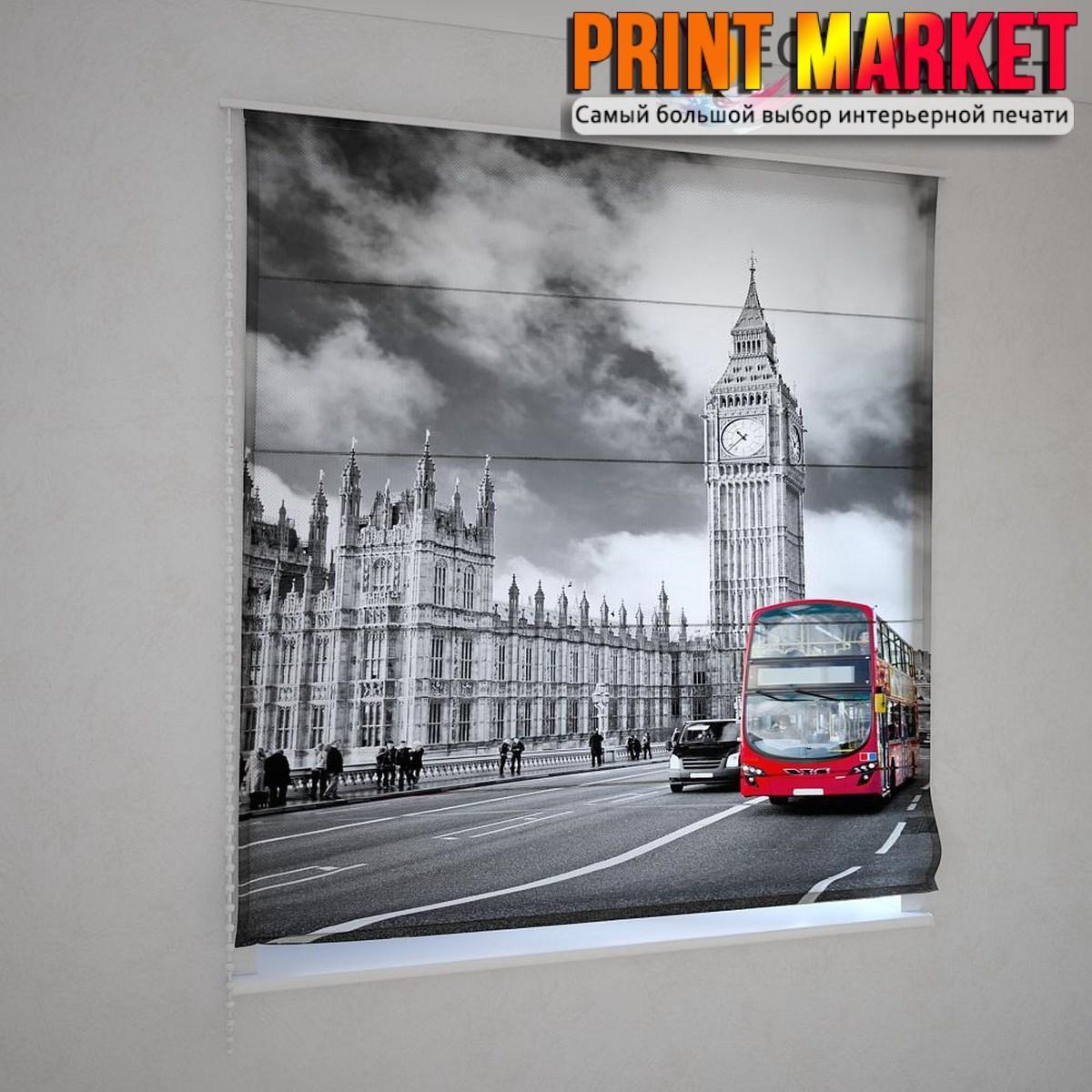 Римские шторы лондонский автобус