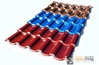 """""""Олимп модульная """"- металлочерепица (производитель стали: «SSAB АВ»(ССАБ АБ), Швеция),м2."""