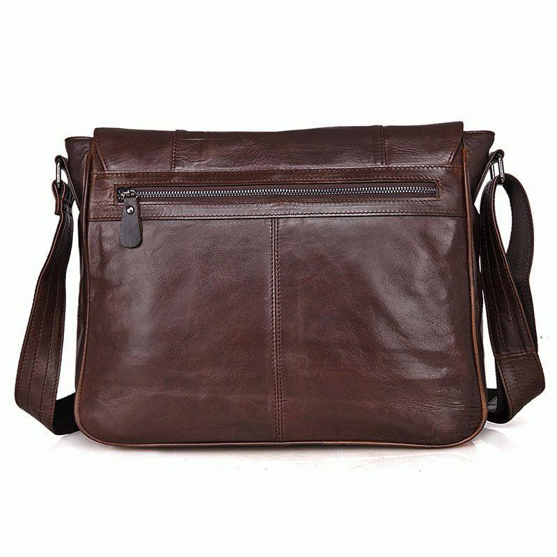 10a4fc596ef5 Кожаная мужская сумка на плечо S.J.D. 7338C Коричневый - Цена ...