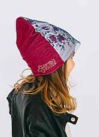 Детская шапка ТЮСО для девочек оптом размер 46-48-50