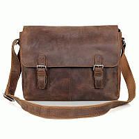 Кожаная  мужская деловая сумка, 6002LR-2, Коричневый