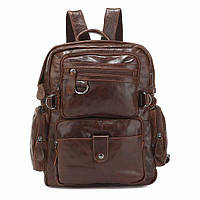 Мужской рюкзак натуральная кожа, коричневый S.J.D. 7042Q