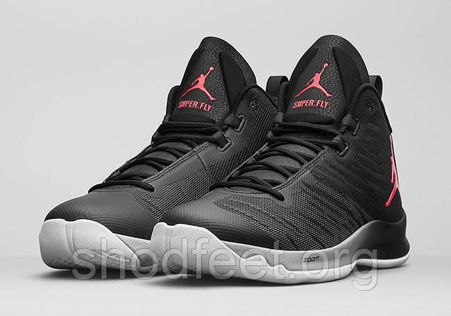 Мужские баскетбольные кроссовки Air Jordan Super Fly 5 Black Wolf Grey