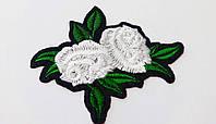 Аппликация (термо) розы  бел. 7,8х6,3 см