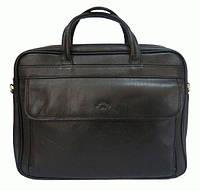 Кожаная мужская сумка-портфель черная,  Katana K31023-1