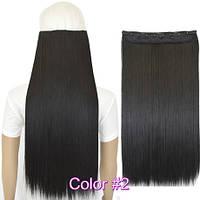 Волосы накладные на заколках 60 см темно коричневые тресс волос